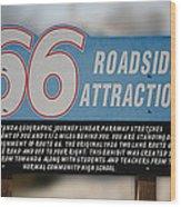 Rt 66 Towanda Il Parkway Signage Wood Print