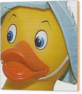 Rubber Ducky Closeup Wood Print
