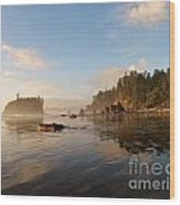 Ruby Beach At Low Tide Wood Print