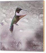 Ruby's Flight Wood Print by Cris Hayes