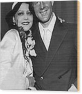 Rudy Vallee Right, And His Wife, Fay Wood Print