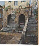Rue Du Bresc A St Paul De Vence Wood Print