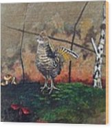 Ruffed Grouse Wood Print