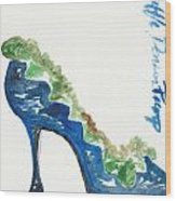 Ruffle Pump Wood Print