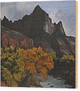 Rugged Peaks Wood Print