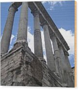 Ruined Columns Wood Print