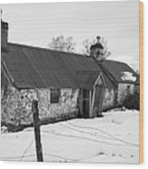 Ruined Cottage In Snow Wood Print