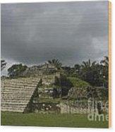 Ruins At Altun Ha Belize Wood Print