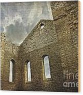 Ruins Of A Church In Ontario Wood Print by Sandra Cunningham