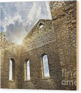 Ruins Of A Church In South Glengarry Wood Print by Sandra Cunningham