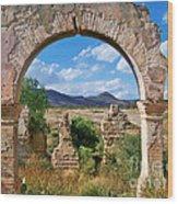 Ruins Of Mineral De Pozos Wood Print