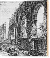 Ruins Of Roman Aqueduct, 18th Century Wood Print