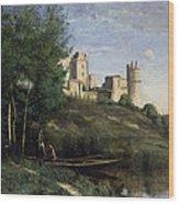 Ruins Of The Chateau De Pierrefonds Wood Print