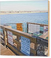 Rules Of The Pier  Wood Print