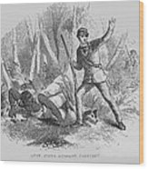 Runaway Slave With Armed Slave Catcher Wood Print by Everett