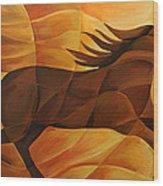 Running Flame Wood Print