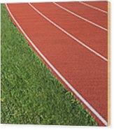Running Track Wood Print