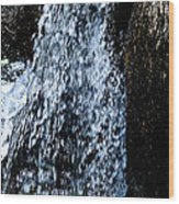 Running Water Wood Print