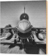 Runway Speed Wood Print