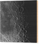 Rupes Recta Ridge And Craters Pitatus Wood Print