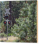 Rural Crossing Wood Print