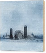 Rural Farm In Winter Wood Print