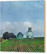 Rural Farm Wood Print