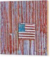 Rural Patriot Wood Print