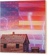 Rural Rustic America Storm Wood Print