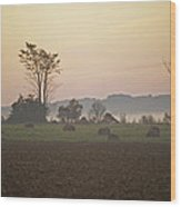 Rural Sunrise Wood Print