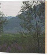 Rush Creek In The Mist Wood Print