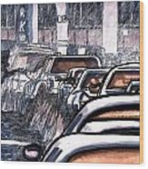 Rush Hour Approach To Midtown Tunnel Nyc Wood Print