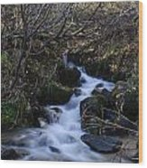Rushing Creek Wood Print