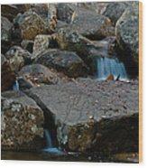 Rushing Water 1 Wood Print