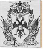 Russia: Coat Of Arms Wood Print