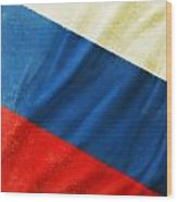 Russia Flag Wood Print