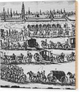 Russia: Procession, 1698 Wood Print