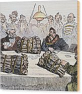 Russian Cartoon, 1854 Wood Print