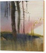 Russian Landscape Wood Print