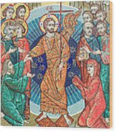 Russian Mosaic Icon Wood Print