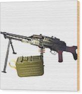 Russian Pkm General-purpose Machine Gun Wood Print