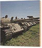 Russian T-62 Main Battle Tanks Rest Wood Print