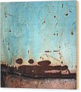 Rust And Paint 1 Wood Print