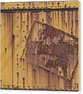 Rust In Sign Wood Print