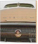Rusted Antique Buick Car Brand Ornament Wood Print