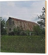 Rusted Barn Roof Wood Print