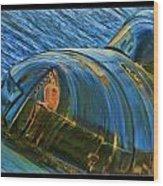 Rusted Submarine Wood Print