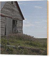 Rustic Barn Still Standing Wood Print by Wilma  Birdwell