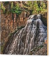 Rustic Falls Wood Print