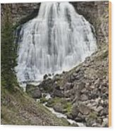 Rustic Falls Yellowstone Wood Print